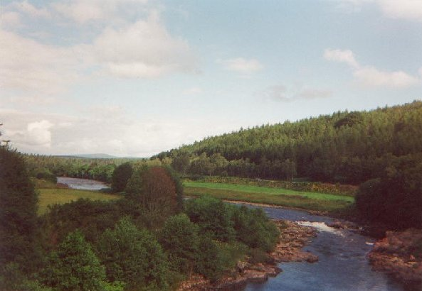 View over the river Dee